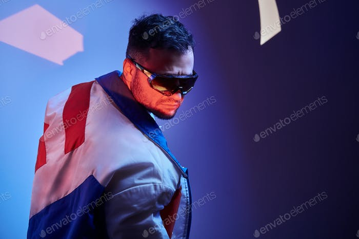 Portrait of handsome man in sunglasses
