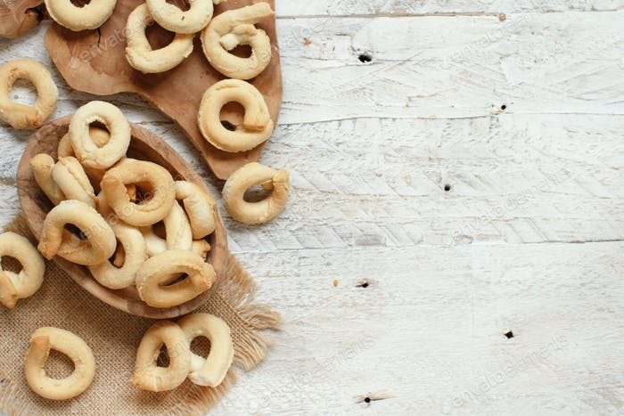 Taralli Traditional Italian snack from Puglia