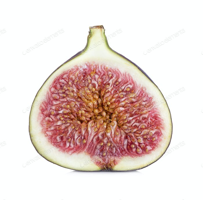 Half figs isolated on white background