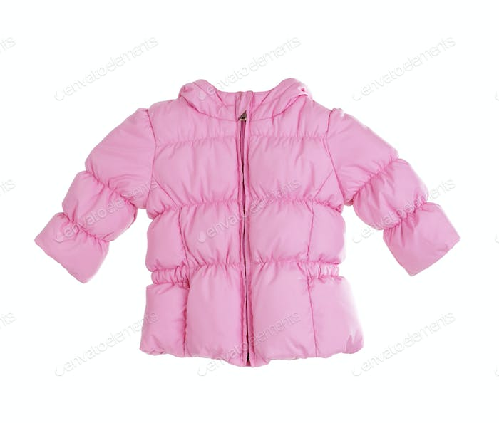 Bright children's pink jacket