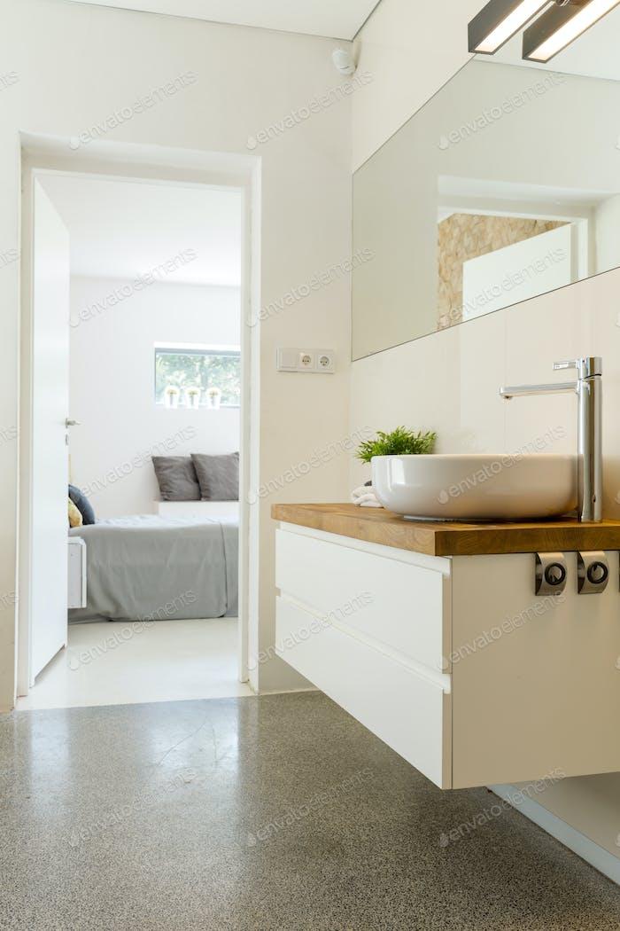 Elegant bathroom with sink