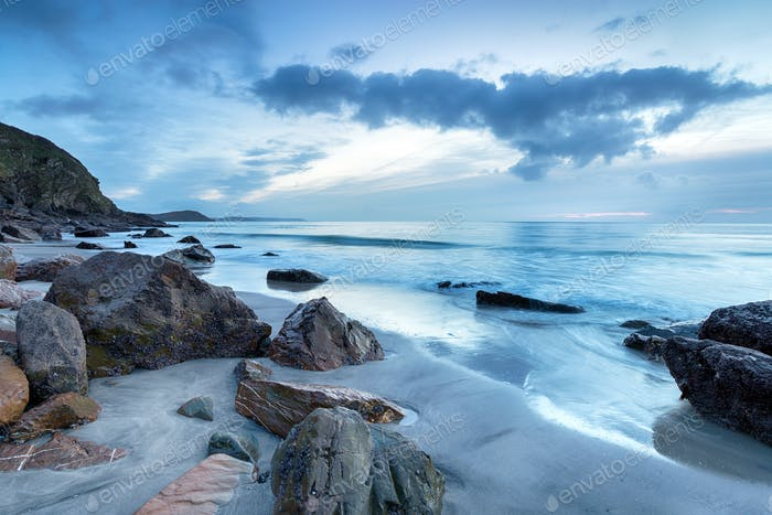 Stormy Dawn at Pentewan Sands