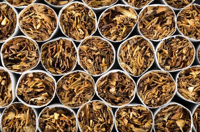 Nahaufnahme von Zigaretten