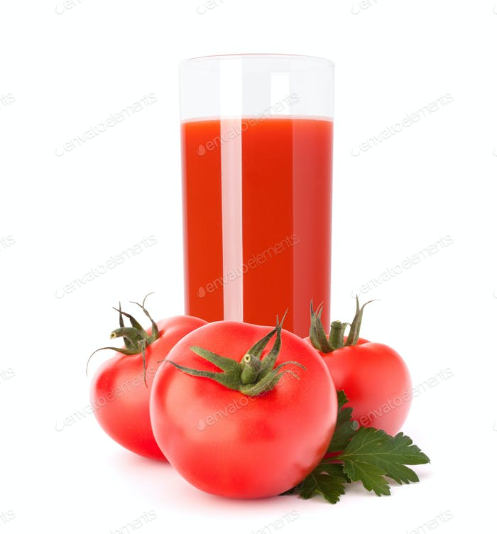 Tomaten-Gemüsesaft im Glas
