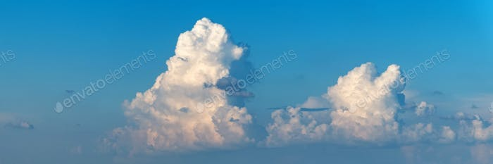 Blue sky with white clouds for natural background