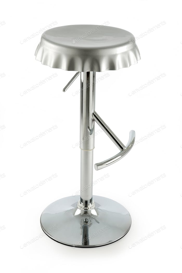 Bottle cap metal stool