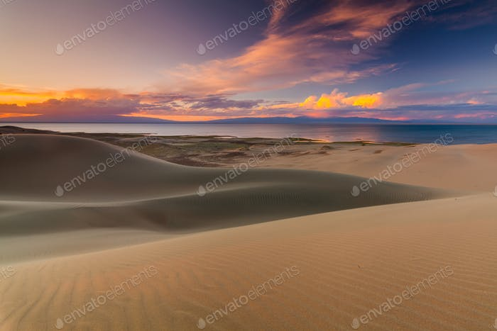 Beautiful views of the desert landscape. Gobi Desert. Mongolia