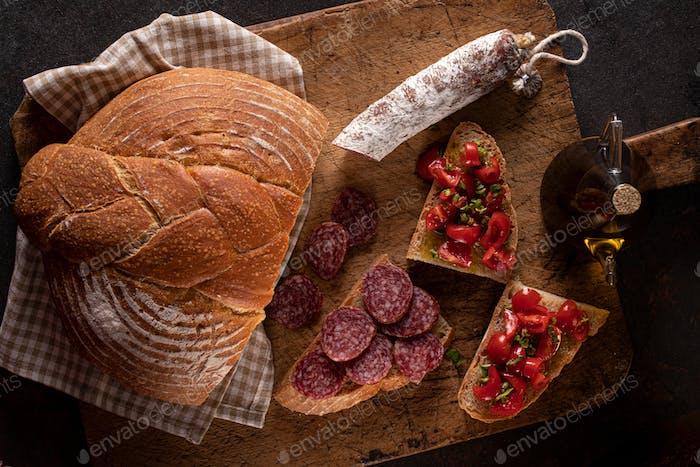 Italienisches Bauernessen