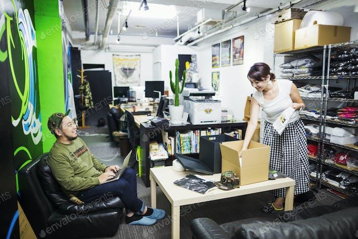 Design Studio stock room