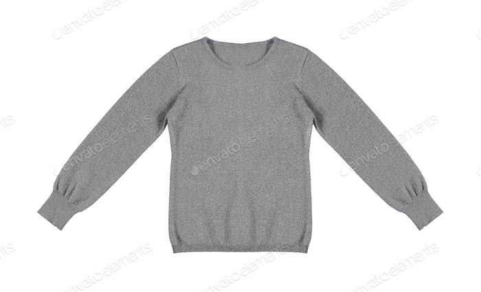 gray woolen sweater