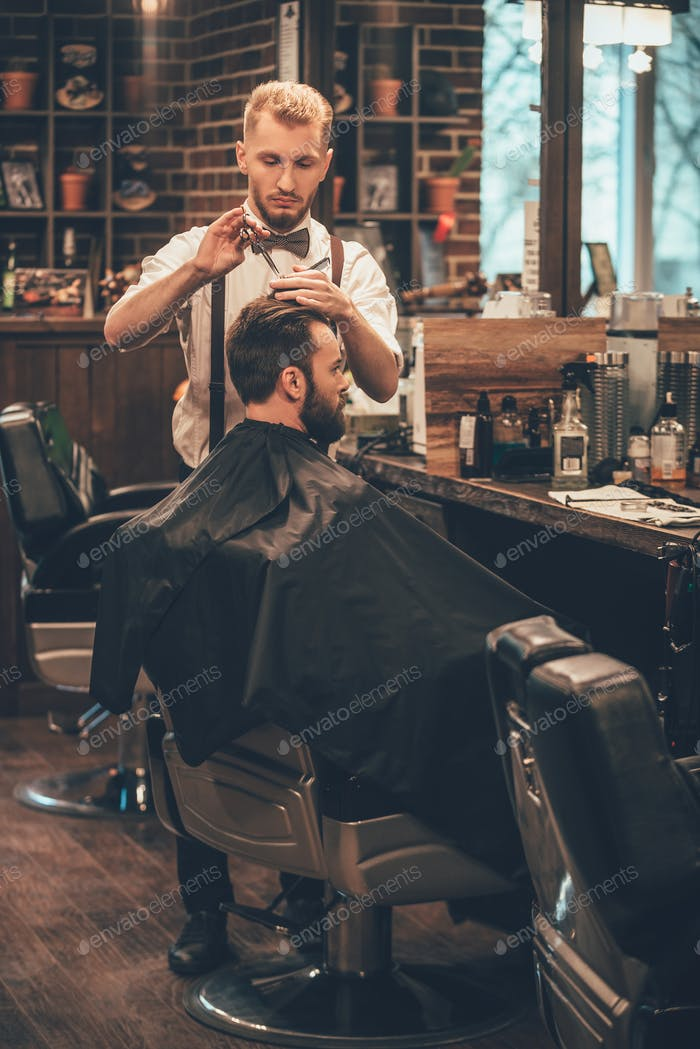 Barber bei der Arbeit.