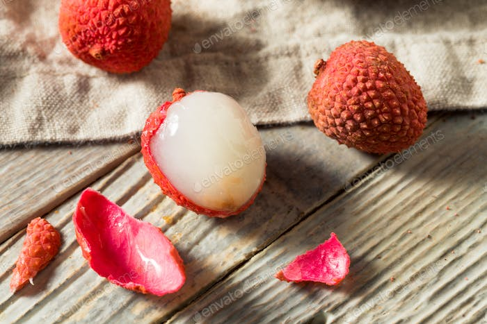 Raw Red Organic Lychee Fruit