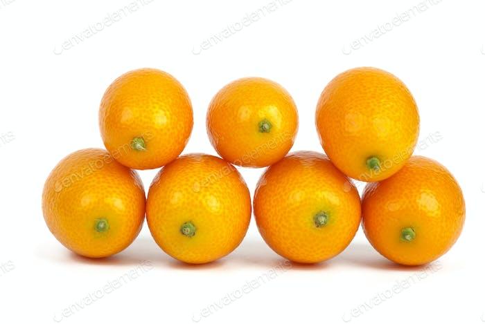 Seven kumquat fruits