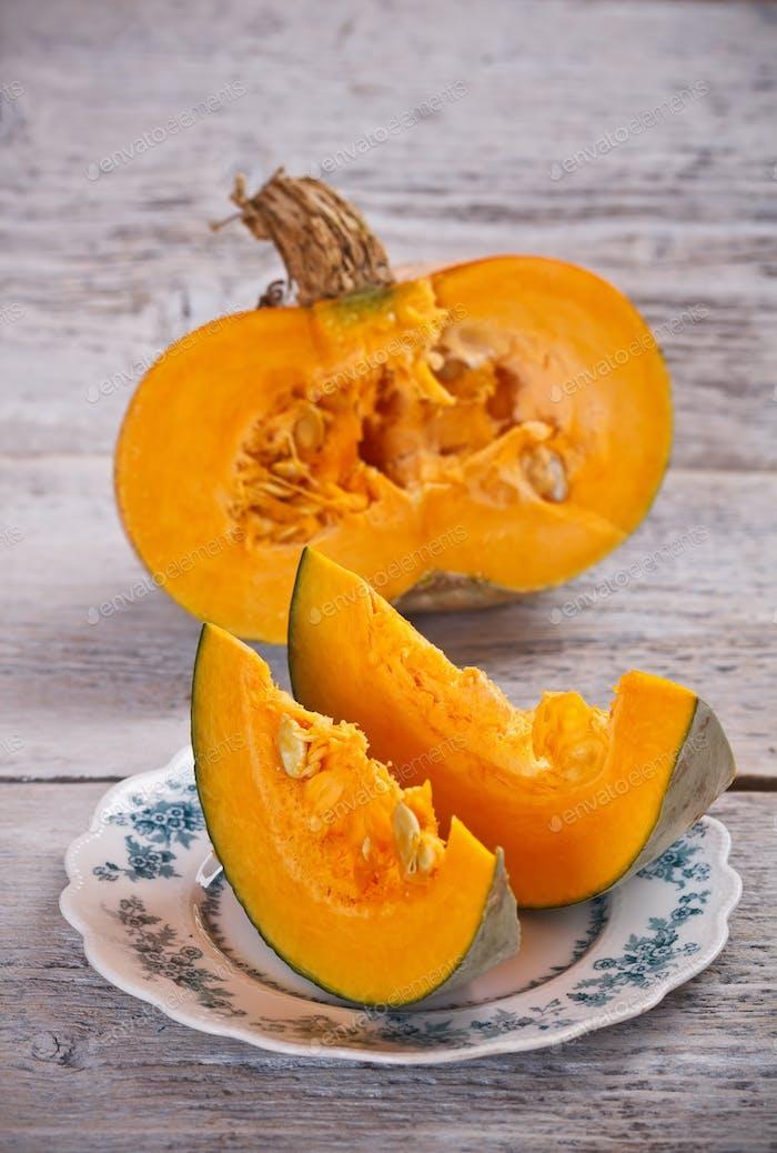 Two slices pumpkin