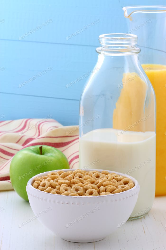 Delicious and healthy honey nuts cereal