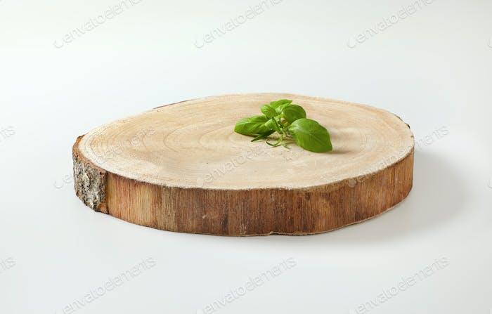 Natural live edge round wood slab