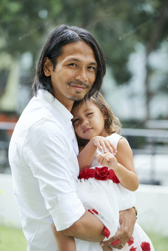 Happy Man and his Daughter