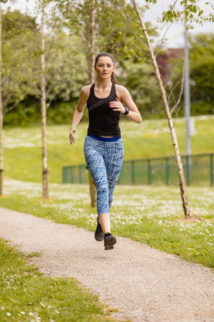 Woman jogging in the park