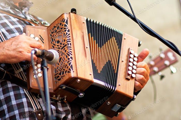 Concertina popular accordion player