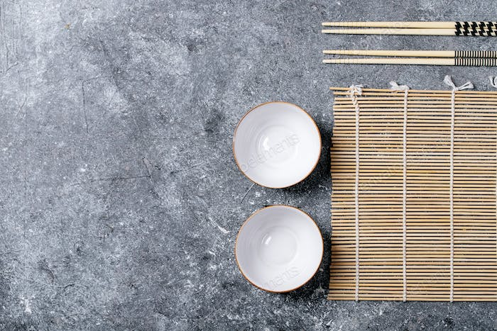 Traditional asian kitchen utensils
