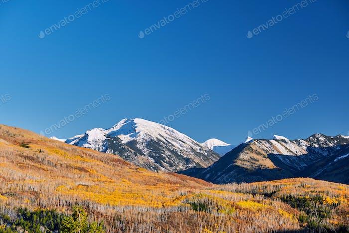 Kebler Pass in Colorado Rocky Mountains