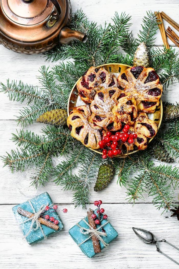 Christmas cookies baking
