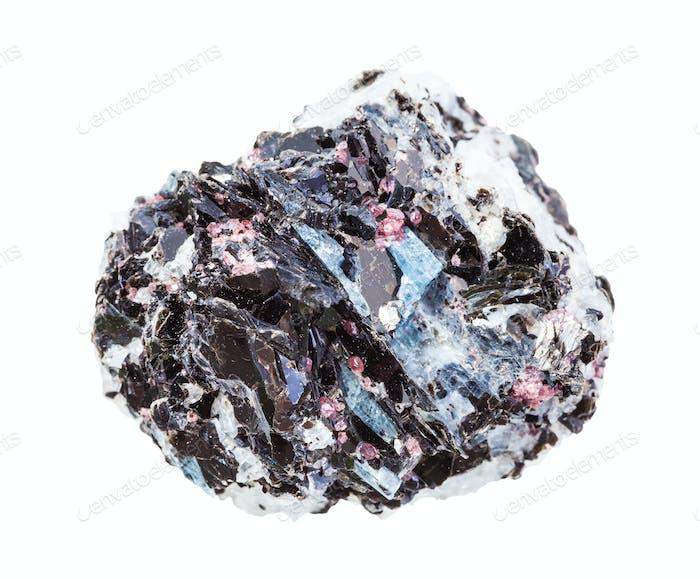 ungeschliffenes Gneisgestein mit isolierten Kristallen