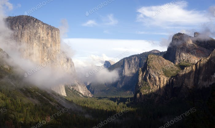 Yosemite Valley El Capitan Half Dome Nationalpark Wasserfall