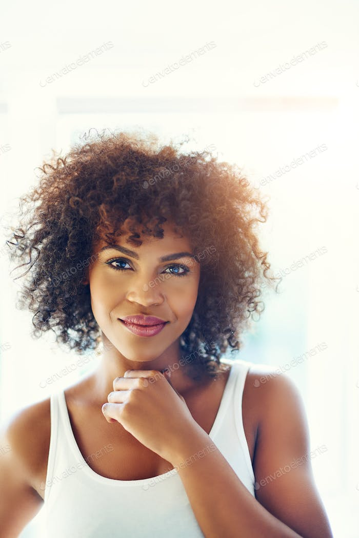 Portrait of beautiful black woman