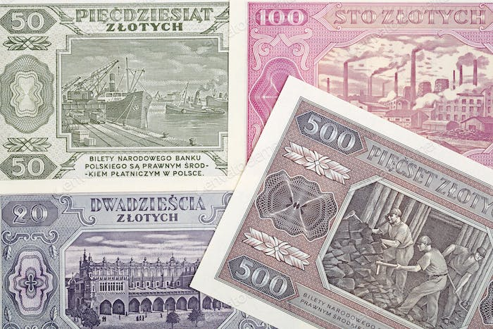 Old Polish money a business background