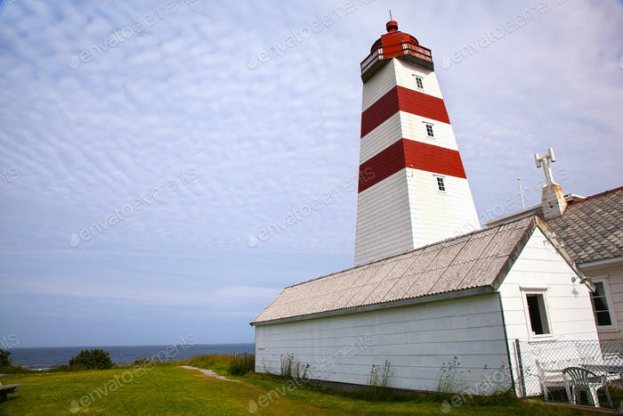 Alnes lighthouse at Godoy island near Alesund, Norway