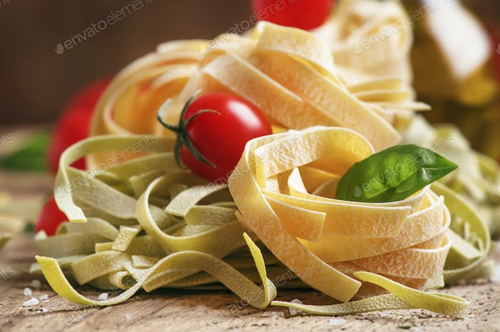 Concept of italian food cooking