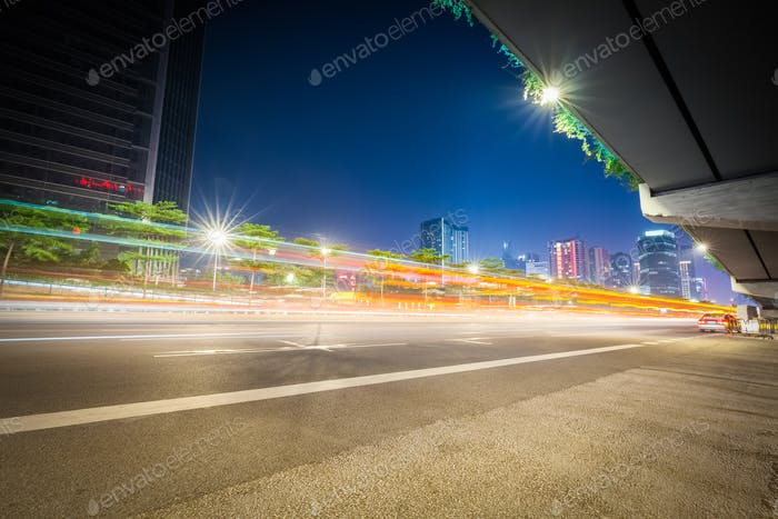 city highway at night