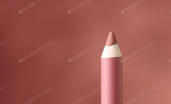 close up of lip pencil