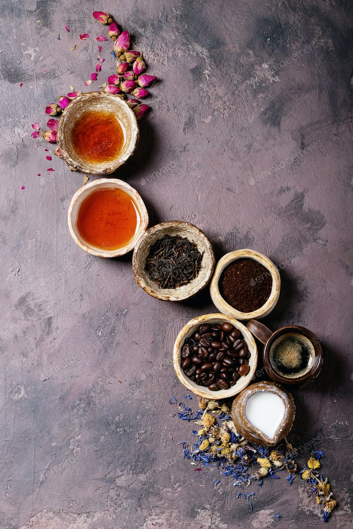 Kaffee gegen Tee