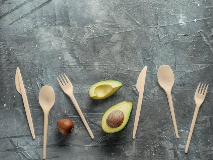 Avocado Seeds biologisch abbaubares Einwegbesteck
