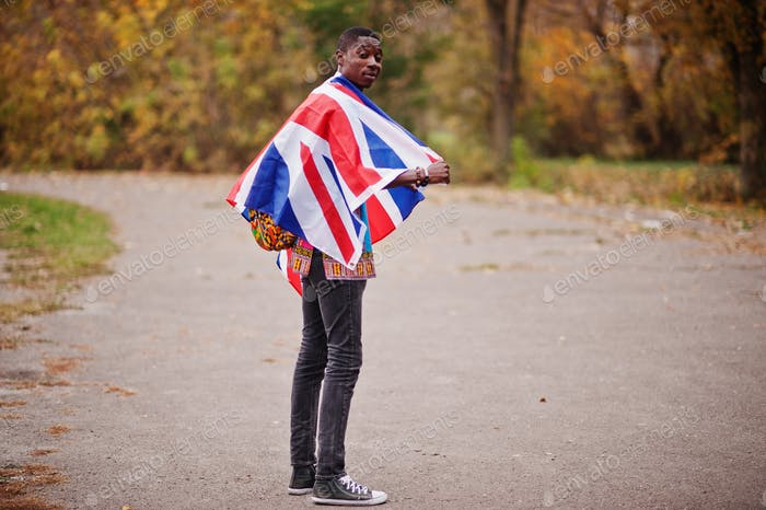 With Great Britain flag