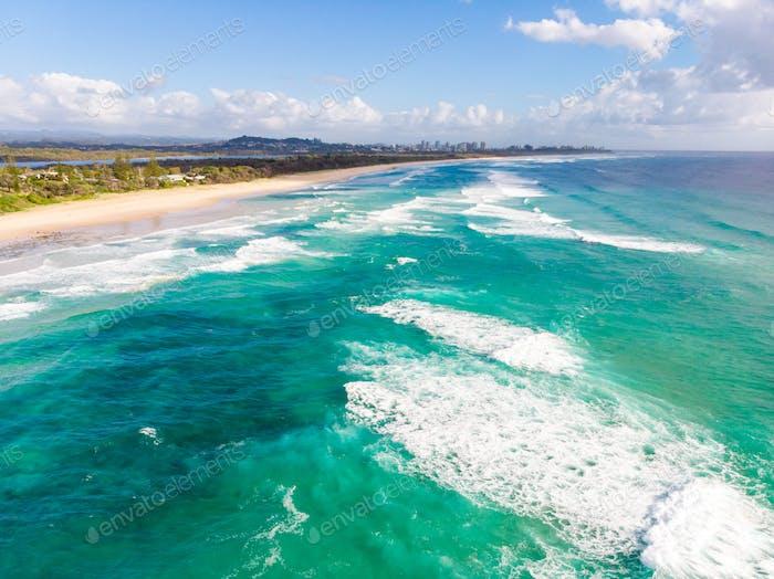 Blick auf die Gold Coast