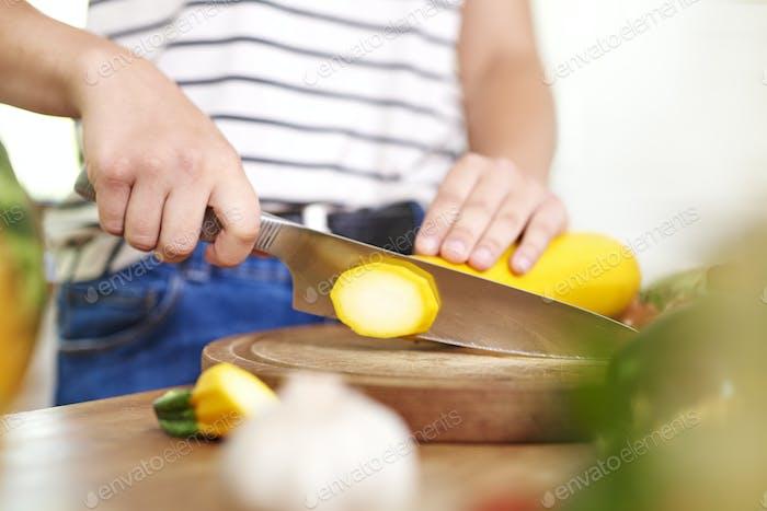 Saisonales Gemüse in der Küche