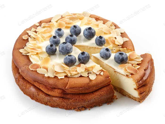 freshly baked cheesecake