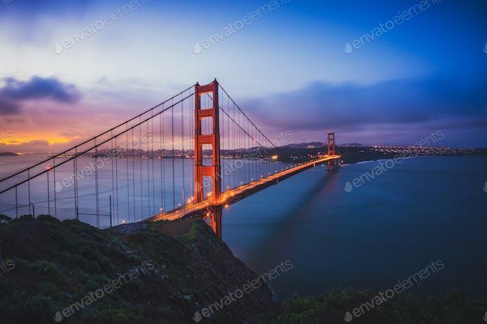The Golden Gate Bridge at Dawn