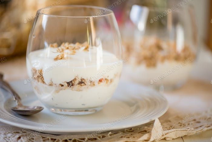 Granola Parfait with Greek Natural Yogurt