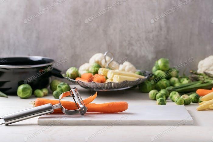 Frische Grüns bereit zu kochen