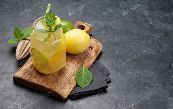 Fresh summer citrus lemonade