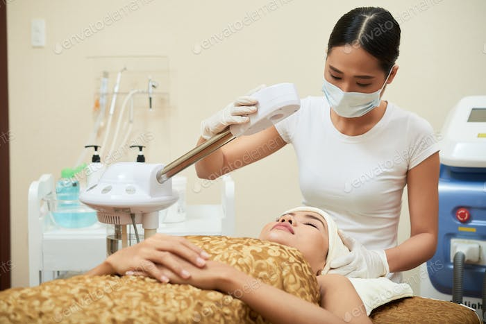 Making Preparations for Beauty Procedure