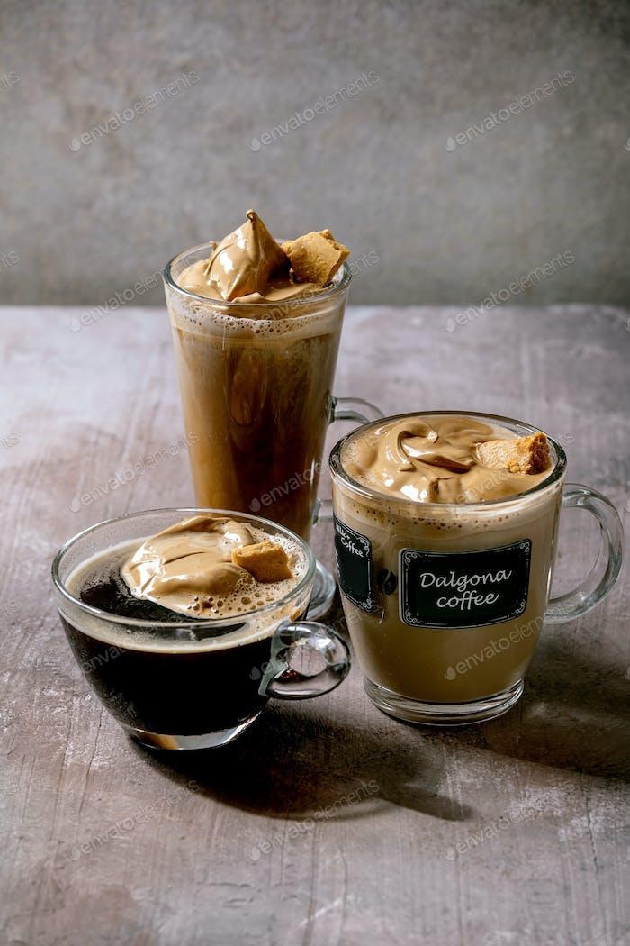 Dalgona coffee drink