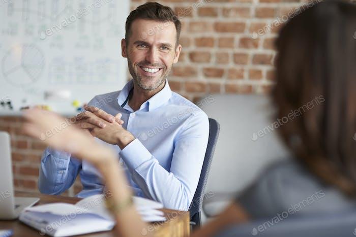 Vorstellungsgespräch im Unternehmen