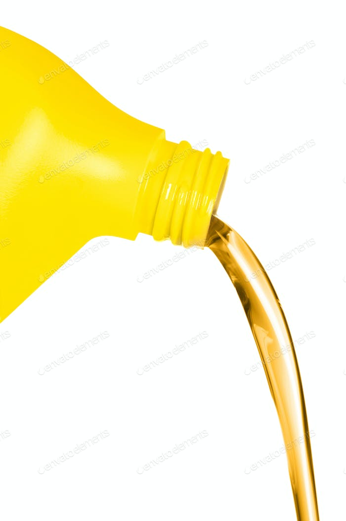 Oil flowing from container