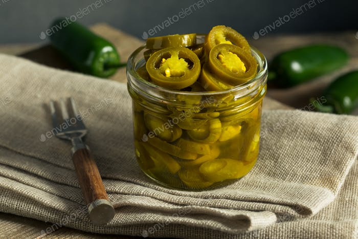 Green Organic Pickled Jalapenos