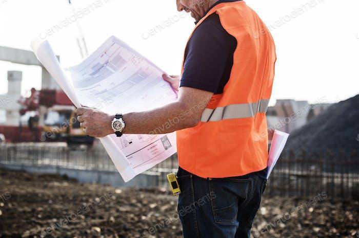 Architekt Assistance Baustellenkonzept